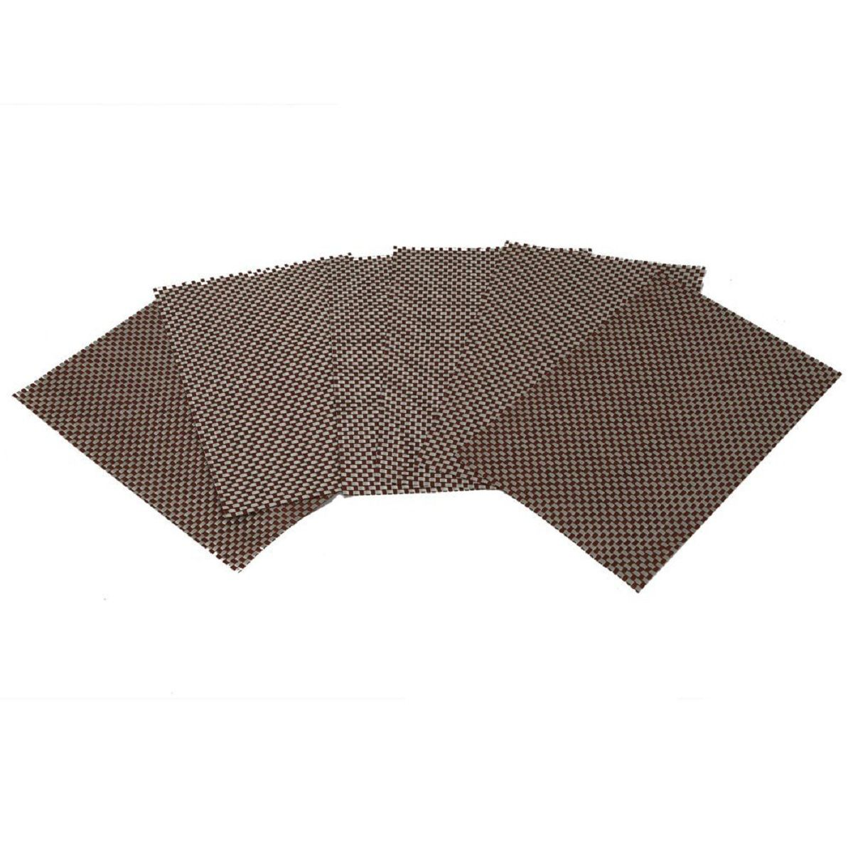 Kuber Industries™ 6 Piece Dining Table Placemats - Brown (Code-PLWS06)