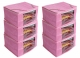 Kuber Industries 6 Pieces Raw Silk Saree Cover Wardrobe Organizer (Pink)-CTKTC2834