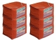 Kuber Industries 6 Pieces Raw Silk Saree Cover Wardrobe Organizer (Red)-CTKTC2844