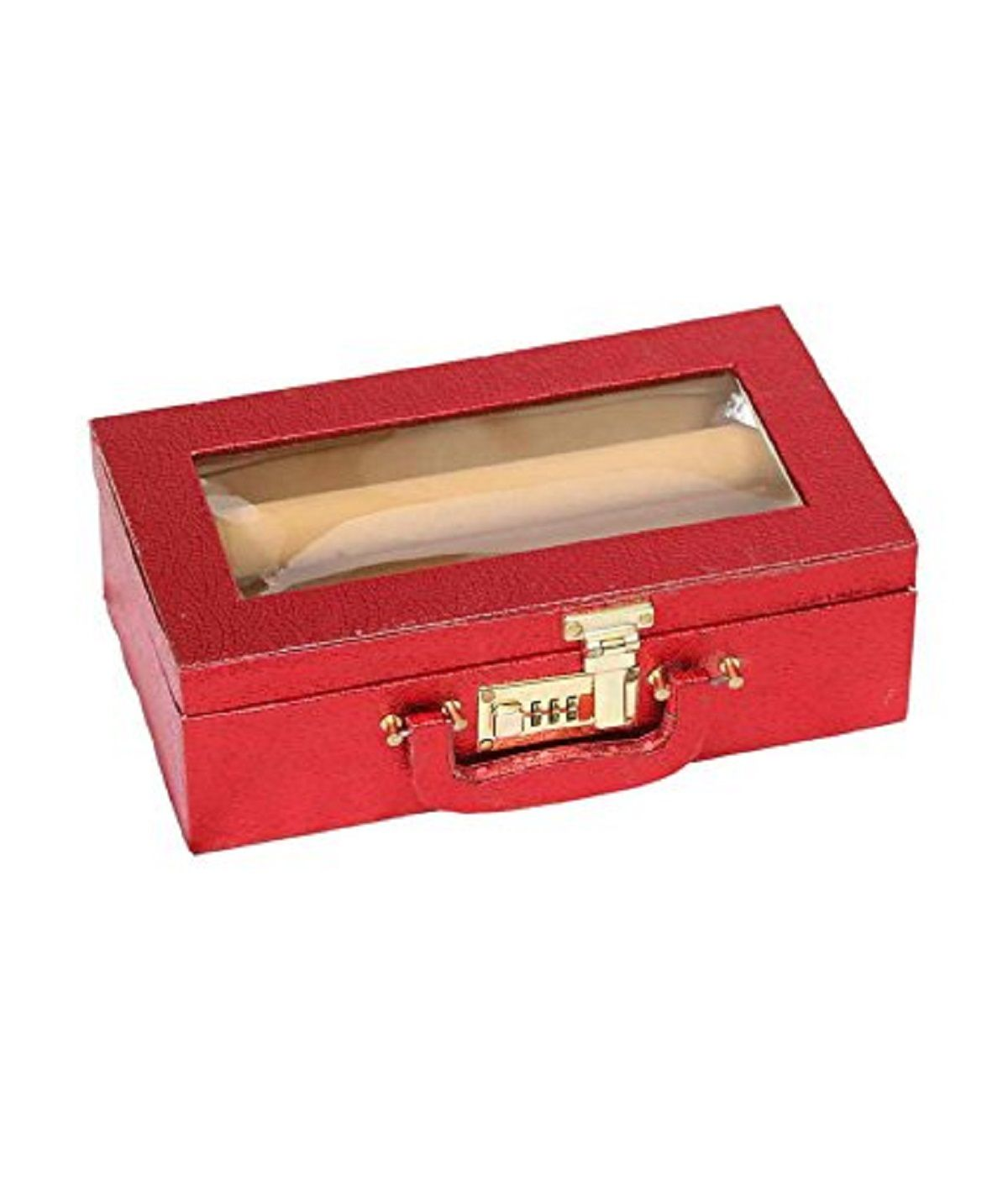 Kuber Industries™ Bangle Box Two Roll With Lock in Hard Board (Red) Set of 2 Pcs  (Code-COM038)