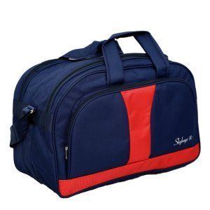 Kuber Industries™ Canvas 50 Cm Blue Travel Duffle Bag (Duf03)
