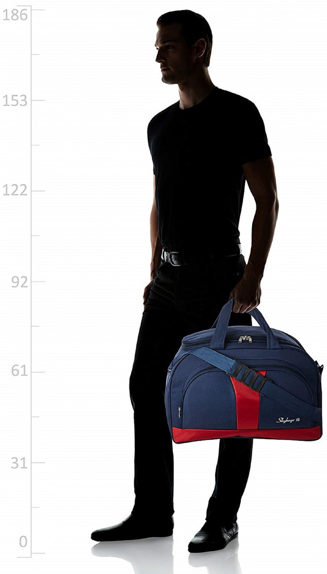 Kuber Industries Canvas Travel Duffle Bag (Blue) -CTKTC8854