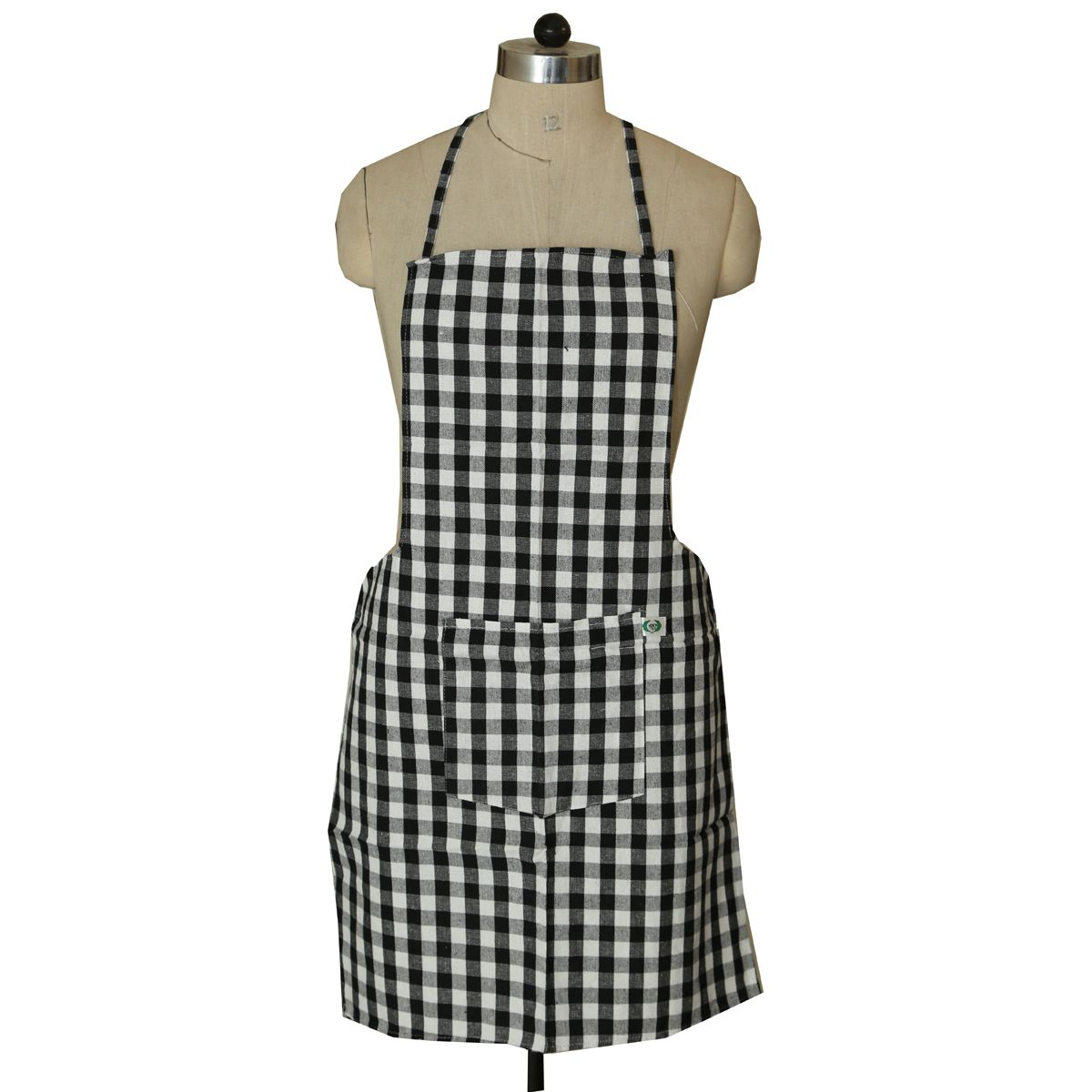Kuber Industries Check Design Kitchen Apron With Front