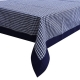 "Kuber Industries Checkered Design Cotton 6 Seater Dining Table Cover 60""x90"" (Blue) - CTKTC40133"