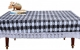 "Kuber Industries Checkered Design PVC 4 Seater Center Table Cover 60""x40""(Grey) - CTKTC40108"