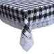 "Kuber Industries Checkered Design PVC 6 Seater Dining Table Cover 60""x90"" (Grey) - CTKTC40128"