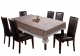 Kuber Industries Checkered Design PVC 6 Seater Dining Table Cover (Brown)-CTKTC14368
