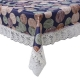 "Kuber Industries Circle Design PVC 6 Seater Dining Table Cover 60""x90"" (Blue) - CTKTC40129"