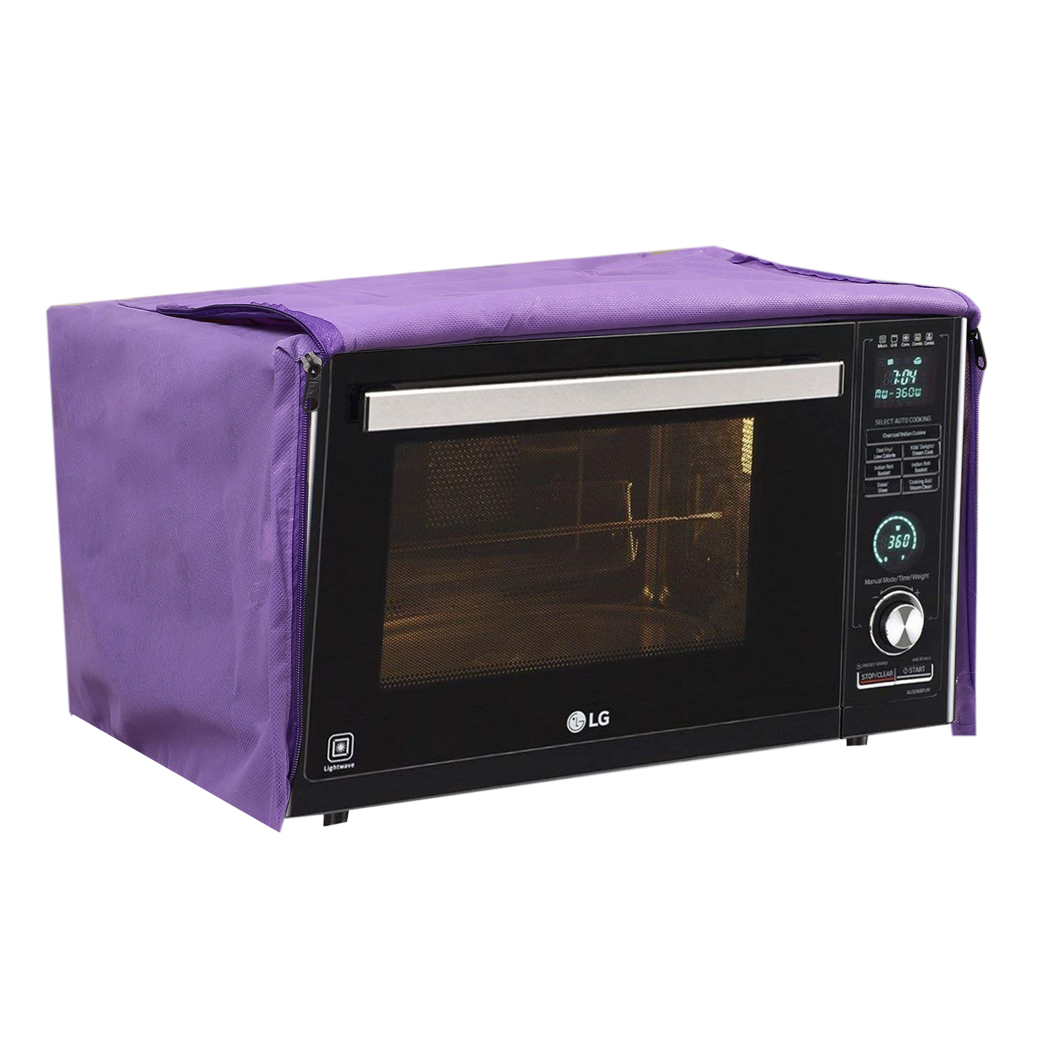 Kuber Industries Cotton 1 Piece Microwave Oven Cover 25 Ltr (Pink) -CTKTC5741