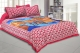 Kuber Industries Cotton 144 TC Double Bedsheet with 2 Pillow Covers (Pink)-CTKTC3458