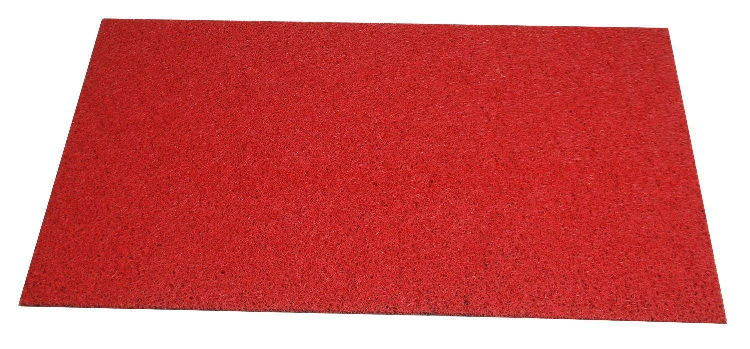Kuber Industries™ Dirt Rubb Off Clean Footwear PVC Doormat for Offices,Hotel ,Restaurant, Home,Shop Color-Red (Size : 48 x 72 Inches) 4 x 6 Feet