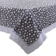 "Kuber Industries Dots Design PVC 6 Seater Dining Table Cover 78""x54"" (Grey)-CTKTC24300"