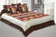Kuber Industries Dupin Silk Heavy 1 Pc Double Bedsheet with 2 Pillow Covers & 2 Cushion Covers (Brown)-CTKTC3385