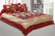 Kuber Industries Dupin Silk Heavy 1 Pc Double Bedsheet with 2 Pillow Covers & 2 Cushion Covers (Red)-CTKTC3386