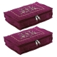 Kuber Industries Embroidery Design 2 Pieces Cotton Jewellery Kit, Maroon - CTKTC30596