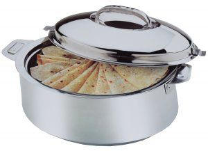Kuber Industries™ Extra Large Size Casserole/Hotpot,Chapati Box/Chapati Container/Hot Case In Stainless Steel (15000Ml) CAS15K
