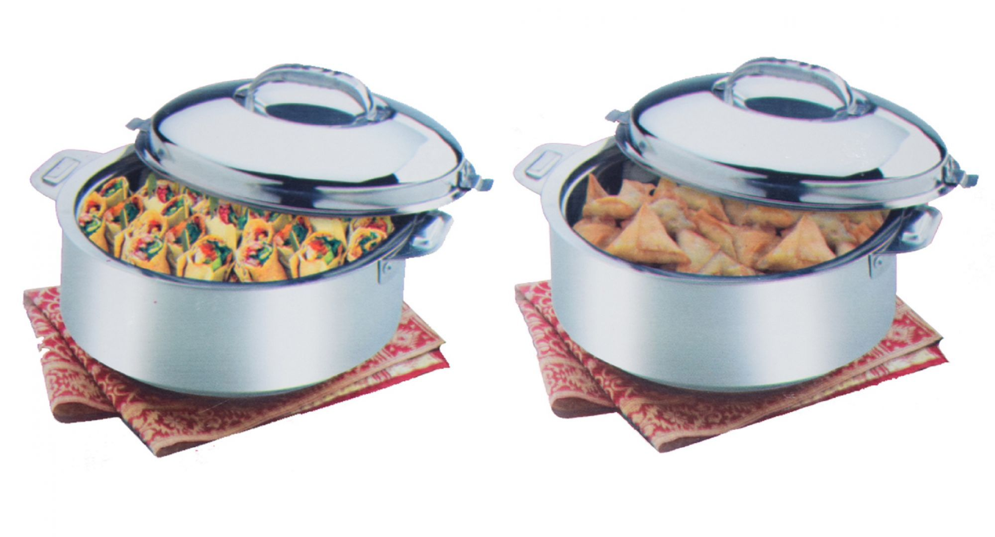 Kuber Industries™ Extra Large Size Casserole/Hotpot,Chapati Box/Chapati Container/Hot Case In Stainless Steel (15,000Ml) Pack of 2 Pcs CAS15K12