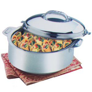 Kuber Industries™ Extra Large Size Casserole/Hotpot,Chapati Box/Chapati Container/Hot Case In Stainless Steel (20,000Ml) CAS15K08