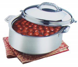Kuber Industries™ Extra Large Size Casserole/Hotpot,Chapati Box/Chapati Container/Hot Case In Stainless Steel (20,000Ml) CAS15K09