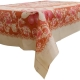 "Kuber Industries Flower Design PVC 4 Seater Center Table Cover 60""x40""(Pink) - CTKTC40106"