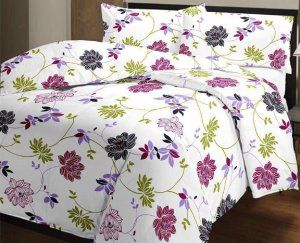 Kuber Industries™ Flower Print Reversible Poly Cotton Single Bed AC Blanket / Dohar (Multi) (Code-DOH05)