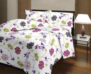 Kuber Industries™ Flower Print Reversible Poly Cotton Single Bed AC Blanket / Dohar (Multi) (Code-DOH06)