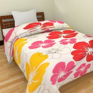 Kuber Industries™ Flower Print Reversible Poly Cotton Single Bed AC Blanket / Dohar (Pack of 2 Pcs) (Pink) (Code-DOH19)