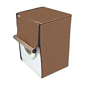 Kuber Industries™ Front Load Fully Automatic Washing Machine Cover Brown Color (Suitable For 6 kg, 6.5 kg, 7 kg, 7.5 kg, )