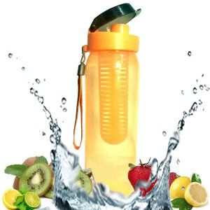 Kuber Industries™ Fruit Infuser Bottle/Juice Bottle/Water Bottle/Sports Bottle With Fruit Strainer Set of 1 Pc (FRBO07)