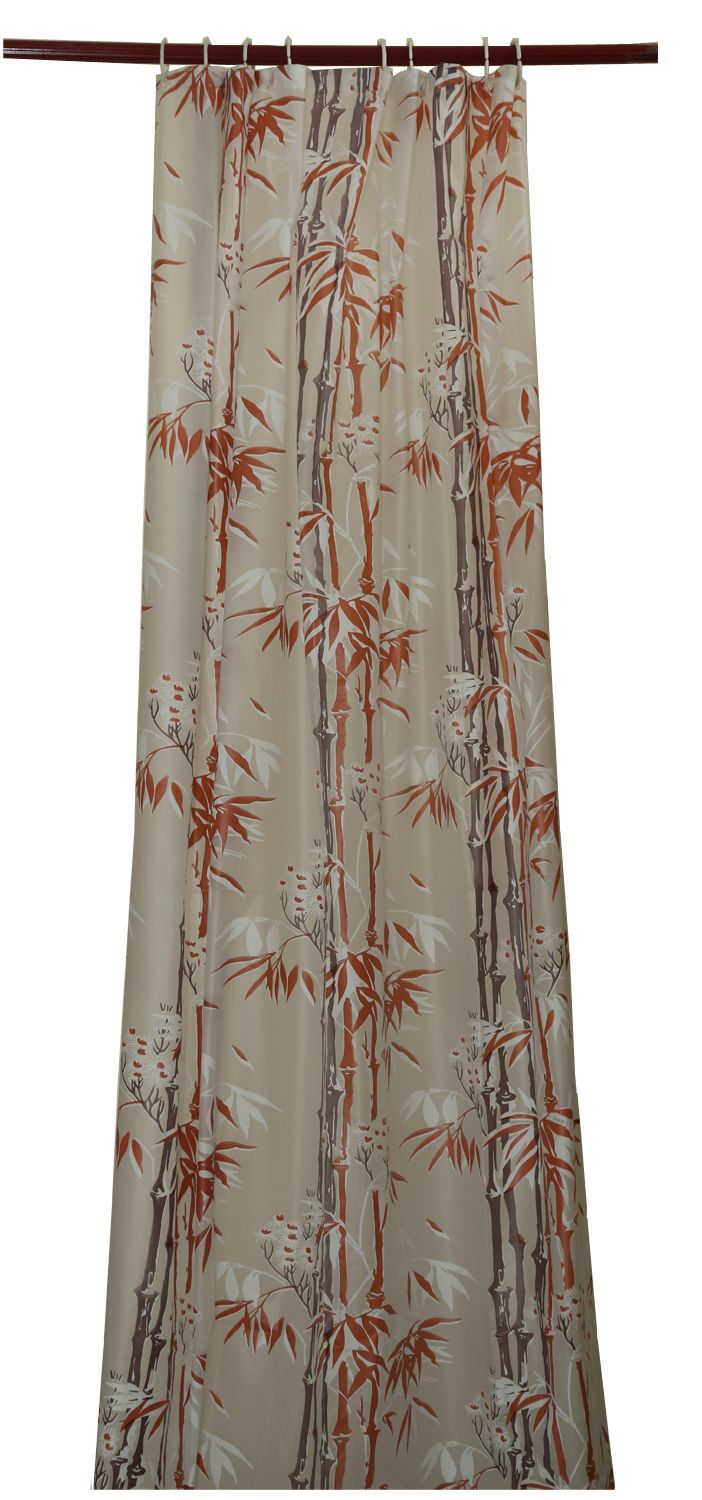 Kuber Industries™ Green Floral Design PVC Premium Shower Curtain - 7 Feet -84*54 Inches Set of 2 Pcs- 8 Hooks (SHWCU026)