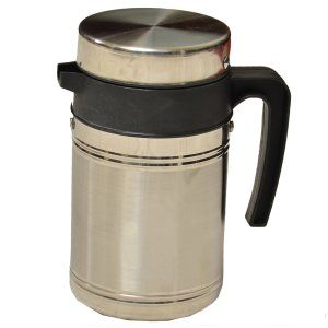 Kuber Industries™ Insulated Stainless Steel Tea Hot & Cold Flask,Tea Serving,Kettle (800 Ml)-KETT01