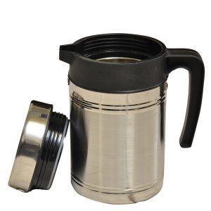 Kuber Industries™ Insulated Stainless Steel Tea Hot & Cold Flask,Tea Serving,Kettle (800 Ml)-KETT03