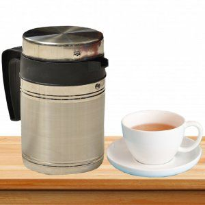 Kuber Industries™ Insulated Stainless Steel Tea Hot & Cold Flask,Tea Serving,Kettle (800 Ml)-KETT05