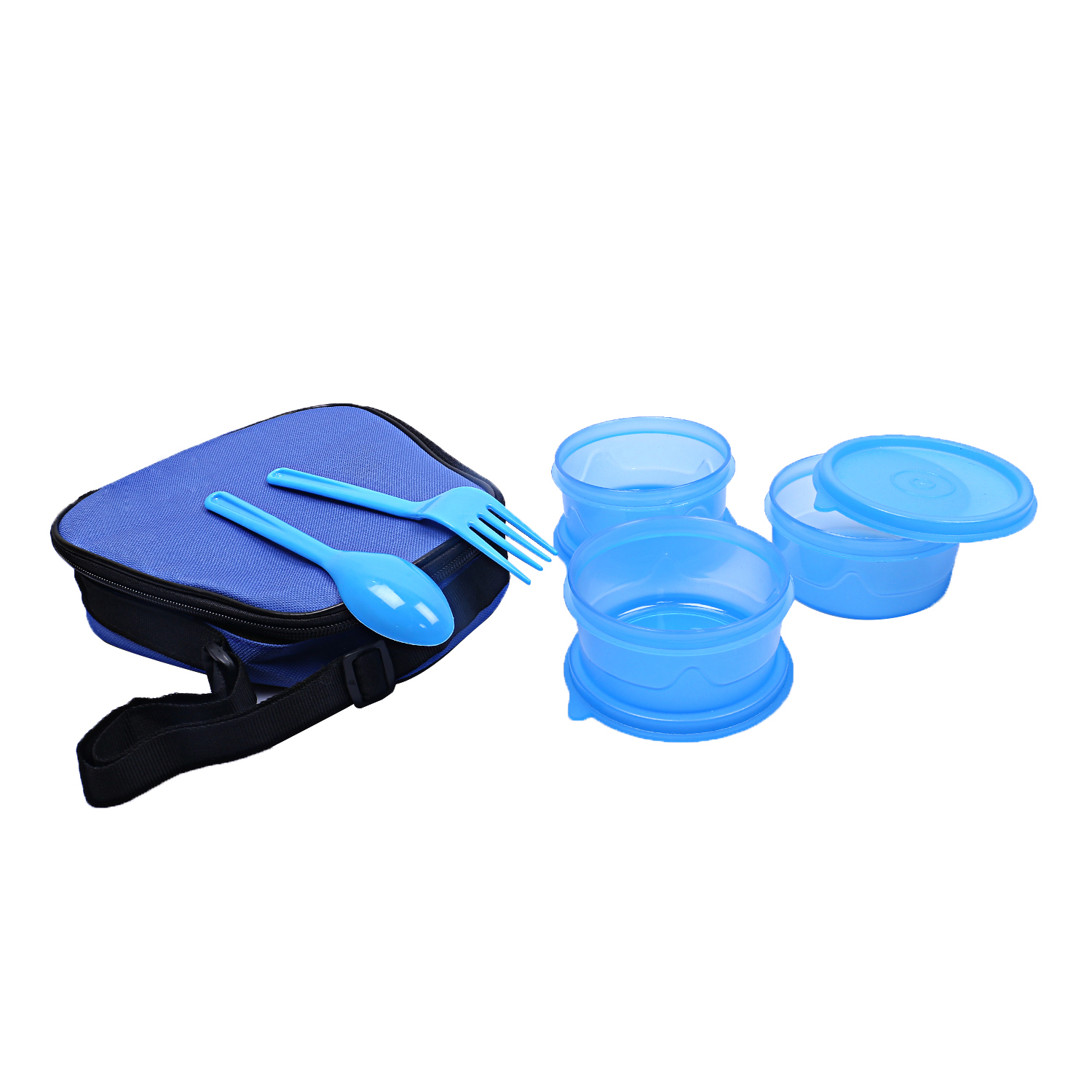 Kuber Industries Insulated Tiffin Lunch Box 3 Compartment (Multi)