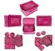Kuber Industries™ Jewellery Box With 12 Pouches (Pink Satin)