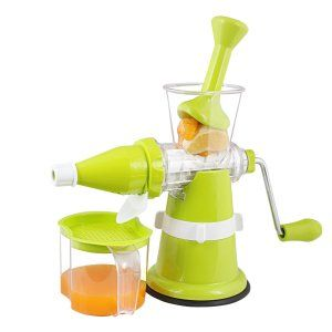 Kuber Industries™ Juicer, Fruit & Vegetable Juicer, Manual Hand Juicer, Fruit Juicer with Suction Base (Steel Handle) Set of 1 Pc (JUI005)