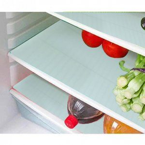 Kuber Industries™ Large Refrigerator Drawer Mat/ Fridge Mat/ Place Mat Set of 6 Pcs (14*20 inches) (White) Code-FML16