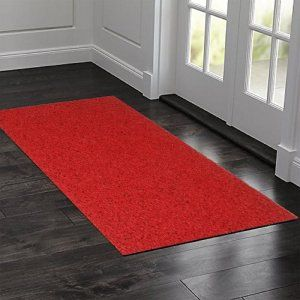 Kuber Industries™ Large Size Dirt Rubb Off Clean Footwear PVC Thick Doormat for Offices,Hotel ,Restaurtaurant, Home,Shop Color- Red Size : 100 cm x 60 cm x 1.5 cm (Code-D06)