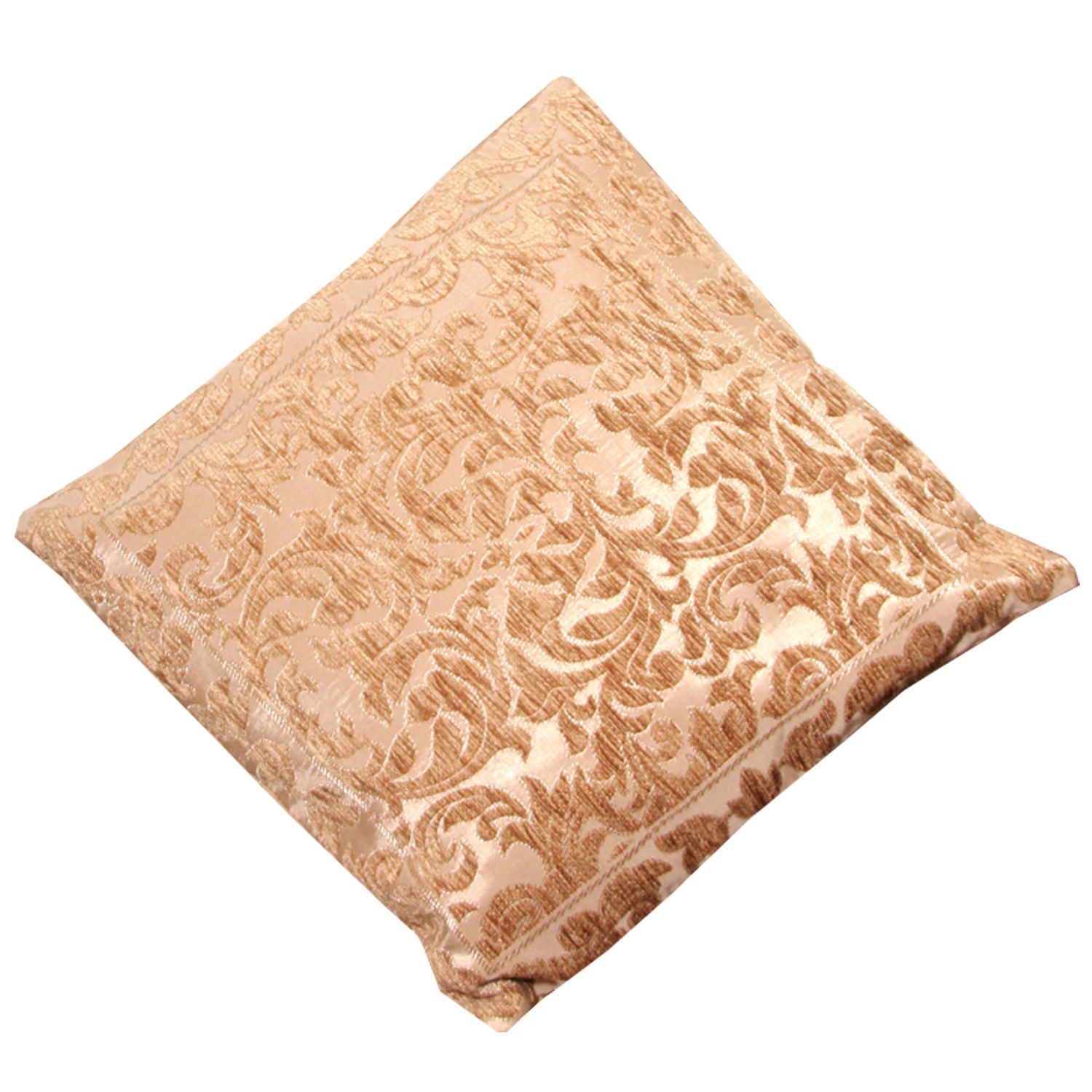 Kuber Industries™ Large Size Luxurious Velvet Self Design Cushion Cover (24x24 Inches) Set of 1 Pc (Brown) Code-Cush18