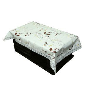 64fe4a4e903 Kuber Industries Leaf Design Heavy Waterproof Center Table Cover 4 Seater ( 40 60 inches