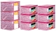 Kuber Industries Leaf Design Non Woven 6 Pieces Saree Cover And 3 Pieces Underbed Storage Bag, Cloth Organizer For Storage, Blanket Cover Combo Set (Pink) -CTKTC38664