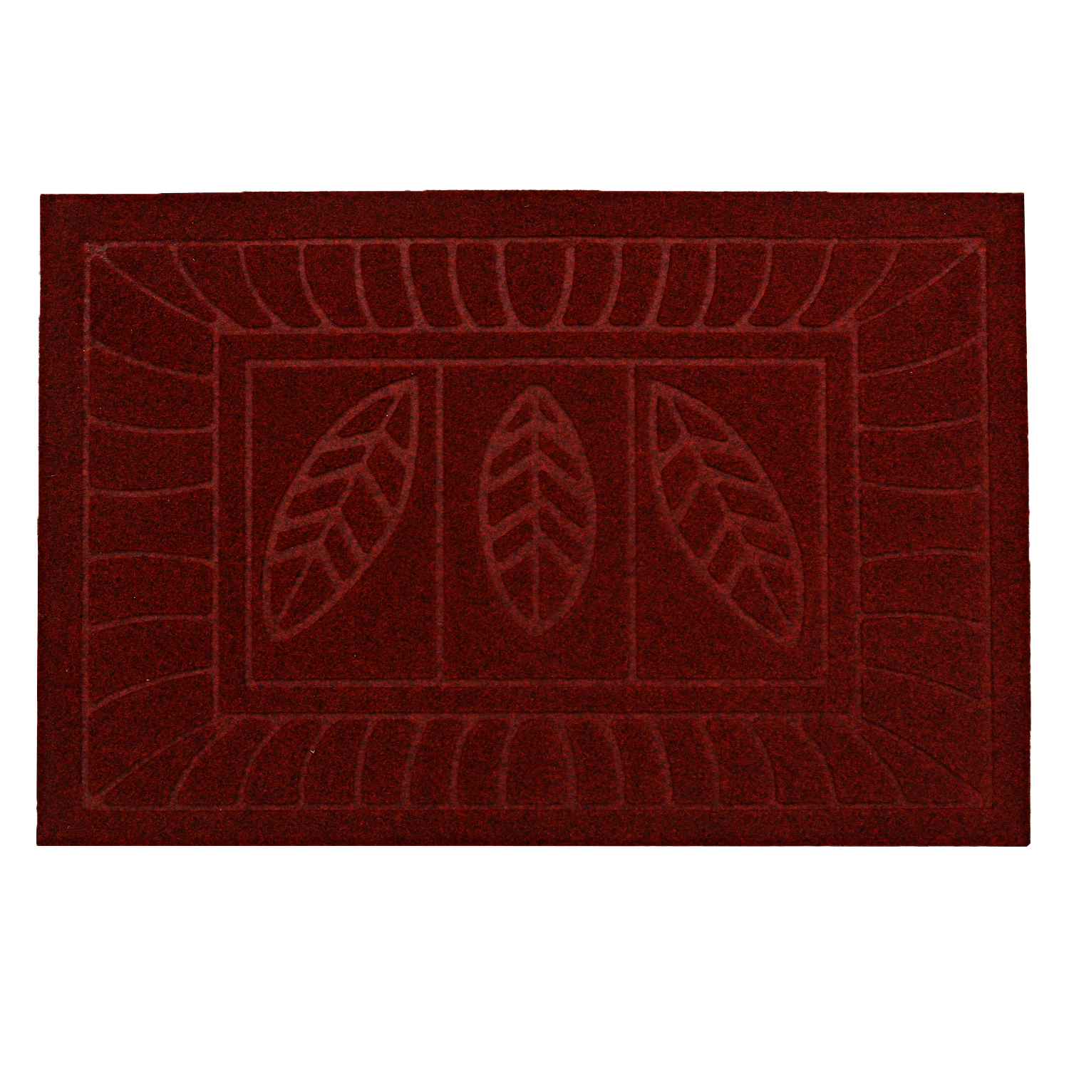 Kuber Industries Microfiber Anti Slip 2 Pieces Bath Mat (Brown & Maroon)