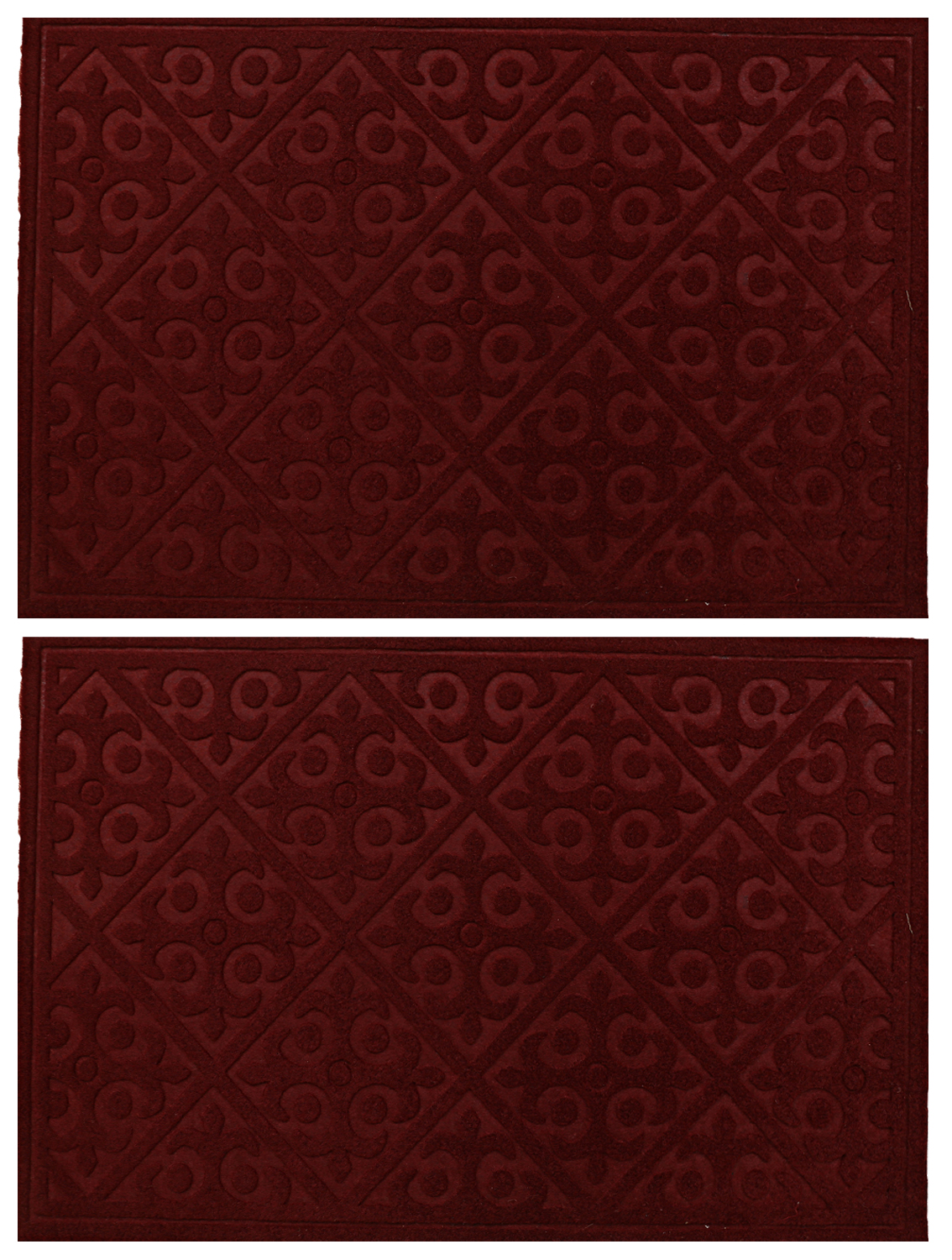 Kuber Industries Microfiber Anti Slip 2 Pieces Bath Mat (Maroon)