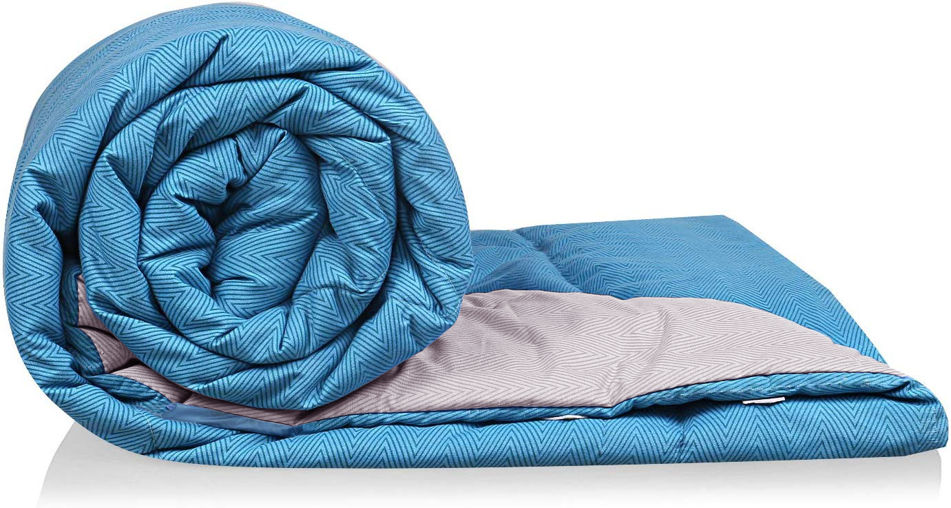 Kuber Industries Microfibre Printed Reversible Comforter, Double (Sea Green and Grey, 200 GSM)-CTKTC24100