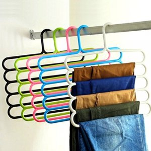Kuber Industries™ Multipurpose Hanger For Shirts,Ties ,Trouser,Towel Cupboard Organiser,Strong - Multi Color (3 Pc) (Code-KST048)