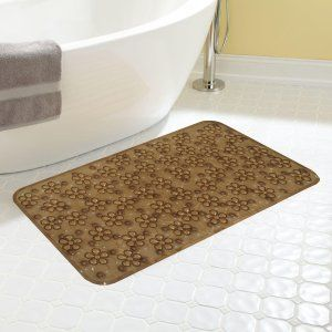 Kuber Industries™ Non Slip Bathroom Mat,Bathtub Mat,Shower Mat,Bath Mat With Suction Cups (Brown) Code-AB11