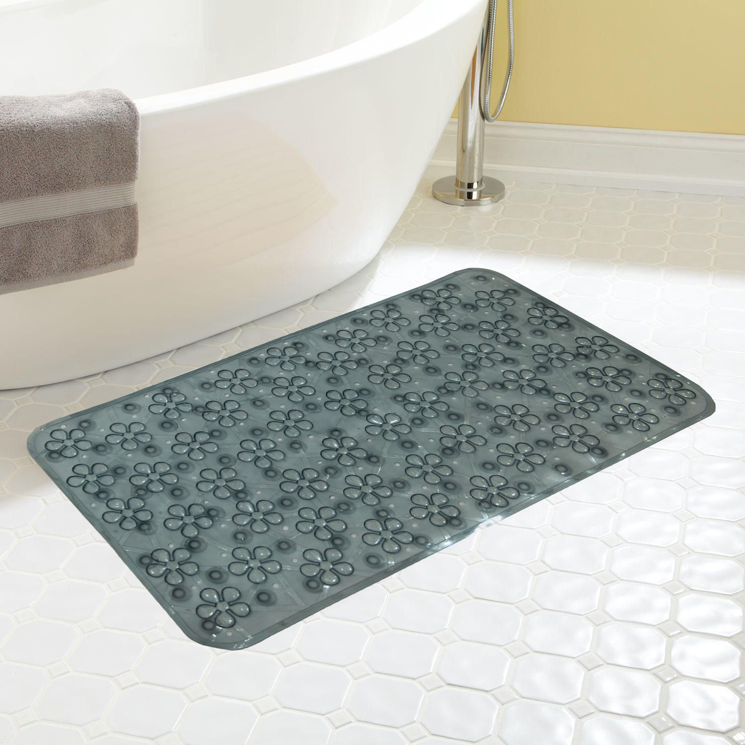 Kuber Industries Non Slip Bathroom Mat Bathtub Mat