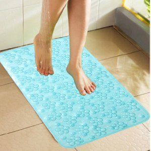 Kuber Industries™ Non Slip Bathroom Mat,Bathtub Mat,Shower Mat,Bath Mat With Suction Cups (Sky Blue) Code-AB01