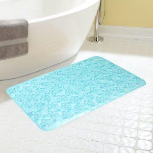 Kuber Industries™ Non Slip Bathroom Mat,Bathtub Mat,Shower Mat,Bath Mat With Suction Cups (Sky Blue) Code-AB04