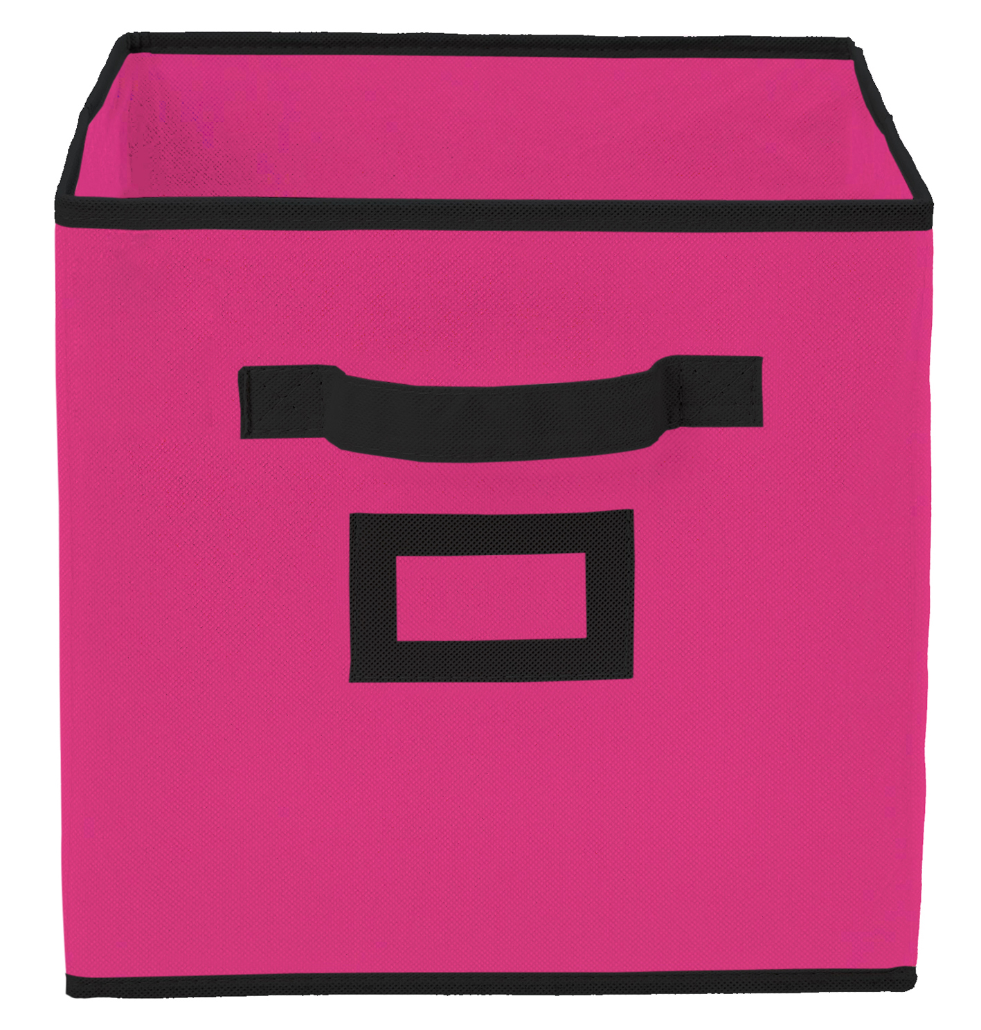 Kuber Industries Non Woven 2 Pieces Small & Large Foldable Storage Organiser Cubes/Boxes (Pink) - CTKTC35308